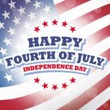 Cuarto feliz de julio - Día de la Independencia Imágenes de archivo libres de regalías