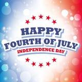 Cuarto feliz de julio - Día de la Independencia Imagen de archivo