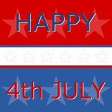 Cuarto feliz del Día de la Independencia de julio, nosotros bandera Imagenes de archivo