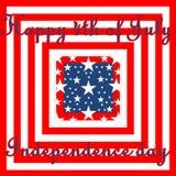 Cuarto feliz del Día de la Independencia de julio, nosotros bandera Foto de archivo