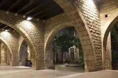 Cuarto gótico de Barcelona. Fotos de archivo