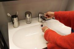 Cuartos de baño limpios aseados Imagen de archivo libre de regalías