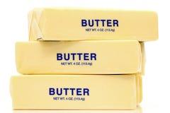 Cuartos de la mantequilla Imagenes de archivo
