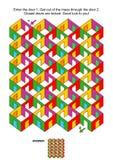 Cuartos y juego colorido 4 x 6 del laberinto de las puertas stock de ilustración