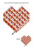 Cuartos y juego en forma de corazón del laberinto de las puertas ilustración del vector