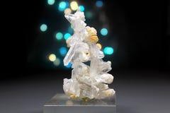Cuarzo Crystal Mineral Specimen de Faden Fotografía de archivo