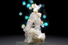 Cuarzo Crystal Mineral Specimen de Faden Foto de archivo