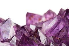 Cuarzo púrpura Fotos de archivo libres de regalías