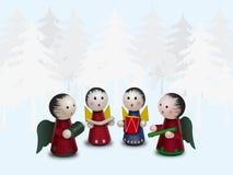 Cuatro ángeles ilustración del vector