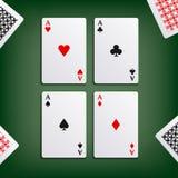 Cuatro aces para el juego de póker Fotos de archivo libres de regalías