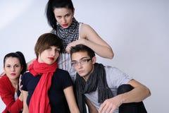Cuatro adolescentes Fotografía de archivo