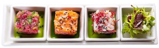 Cuatro alimentos de mar Imagen de archivo