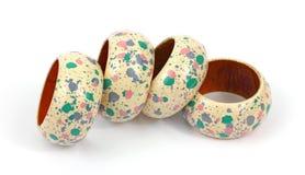 Cuatro anillos de servilleta Imagenes de archivo
