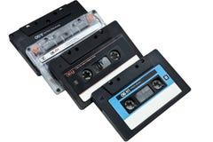 Cuatro audiocasettes Foto de archivo