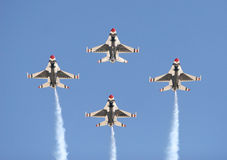 Cuatro aviones de combate Foto de archivo libre de regalías