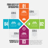 Cuatro AXIS Flip Infographic Imagen de archivo