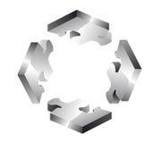 Cuatro azulejos del rompecabezas Stock de ilustración