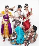 Cuatro bailarines clásicos indios Imagen de archivo libre de regalías