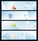 Cuatro banderas abstractas Imagen de archivo libre de regalías