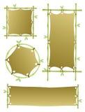 Cuatro banderas de bambú Fotos de archivo libres de regalías