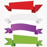 Cuatro banderas de papel Imagen de archivo libre de regalías