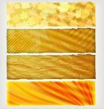 Cuatro banderas del otoño stock de ilustración