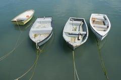 Cuatro barcos Imagen de archivo libre de regalías