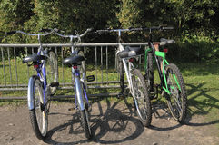 Cuatro bicicletas Foto de archivo libre de regalías