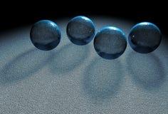 Cuatro bolas cristalinas ilustración del vector