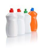 Cuatro botellas de la cocina Fotografía de archivo