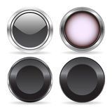 Cuatro botones Imagen de archivo libre de regalías