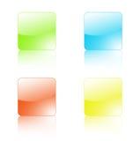 Cuatro botones de cristal Fotos de archivo