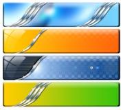 Cuatro cabeceras horizontales ilustración del vector