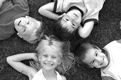 Cuatro caras Fotografía de archivo