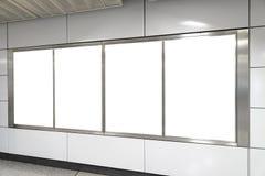 Cuatro carteleras grandes del espacio en blanco de la orientación de la vertical/del retrato en publ Imagenes de archivo