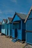 Cuatro chozas de la playa Fotografía de archivo