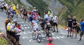 Cuatro ciclistas - Tour de France 2015 Foto de archivo