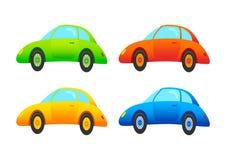 Cuatro coches stock de ilustración