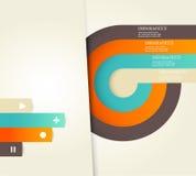 Cuatro colorearon rayas con el lugar para su propio texto. Imagen de archivo libre de regalías