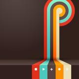 Cuatro colorearon rayas con el lugar para su propio texto Fotografía de archivo libre de regalías