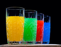 Cuatro colores. bebida. soda, imagenes de archivo