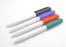 Cuatro colores de etiquetas de plástico Imagen de archivo