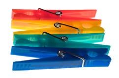 Cuatro contactos del lavadero - diversos colores fotos de archivo libres de regalías