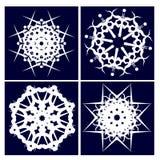 Cuatro copos de nieve Foto de archivo libre de regalías