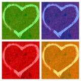 Cuatro corazones imagenes de archivo