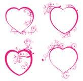 Cuatro corazones hermosos Fotos de archivo