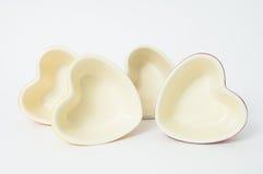 Cuatro corazones interiores imagenes de archivo