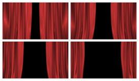 Cuatro cortinas clásicas de la etapa Fotografía de archivo libre de regalías