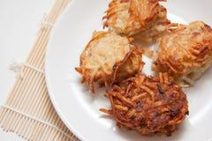 Cuatro crepes de patata Fotografía de archivo