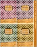 Cuatro cubiertas retras de la libreta del Libro de recuerdos-estilo Fotos de archivo